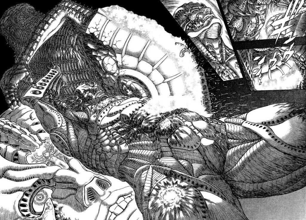 La gigantomachia secondo Kentaro Miura in tutto il suo splendore