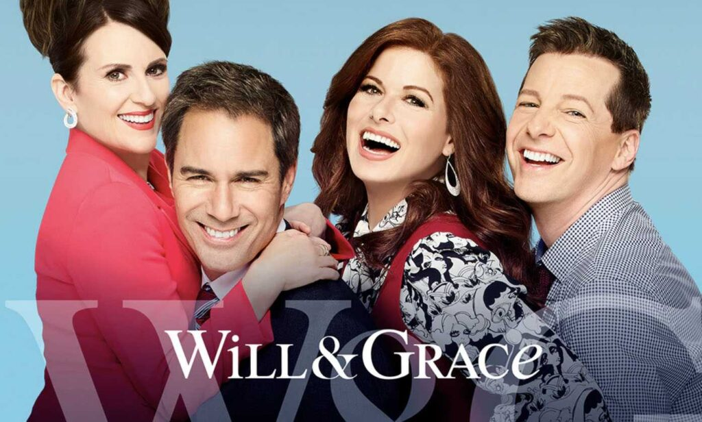 Megan Mullally, Eric McCormack, Debra Messing e Sean Hayes sono Karen, Will, Grace e Jack in Will&Grace