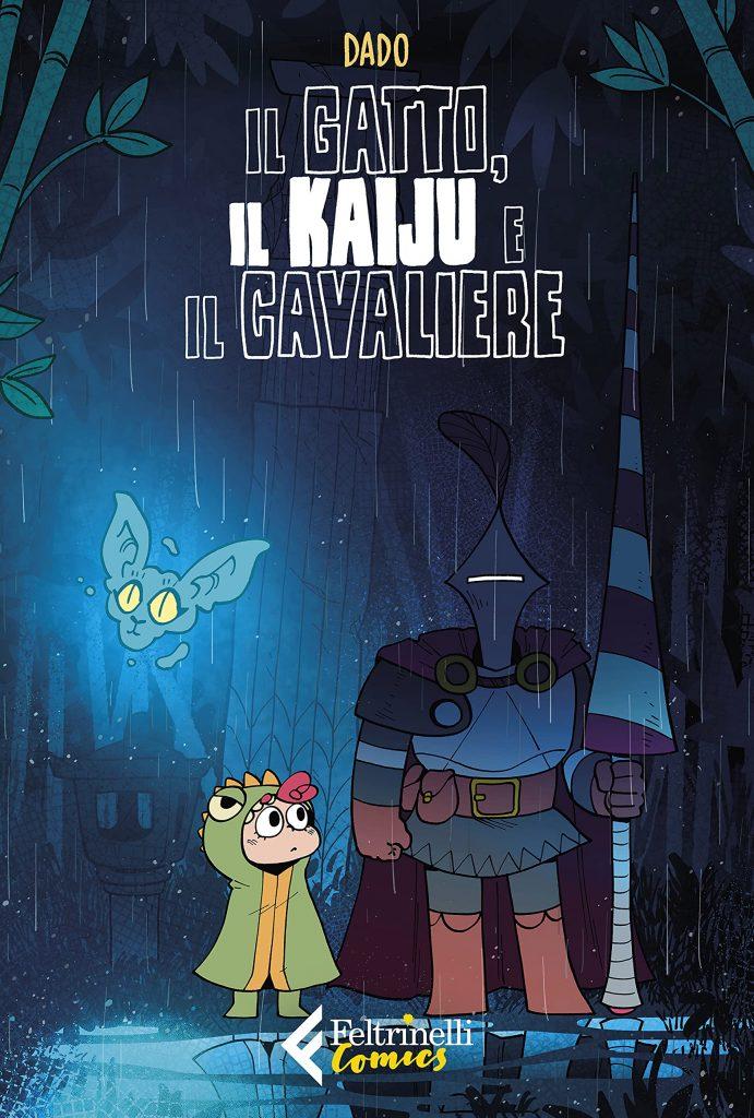 """Copertina di """"Il Gatto, il Kaiju e il Cavaliere"""" di Dado"""
